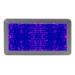 Blue And Pink Pixel Pattern Memory Card Reader (mini) by Amaryn4rt