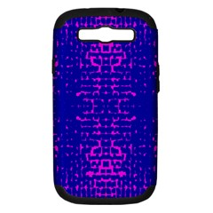 Blue And Pink Pixel Pattern Samsung Galaxy S Iii Hardshell Case (pc+silicone) by Amaryn4rt