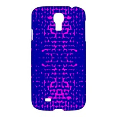 Blue And Pink Pixel Pattern Samsung Galaxy S4 I9500/i9505 Hardshell Case by Amaryn4rt
