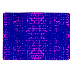 Blue And Pink Pixel Pattern Samsung Galaxy Tab 10 1  P7500 Flip Case by Amaryn4rt
