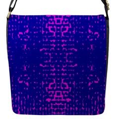 Blue And Pink Pixel Pattern Flap Messenger Bag (s) by Amaryn4rt