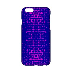Blue And Pink Pixel Pattern Apple Iphone 6/6s Hardshell Case by Amaryn4rt