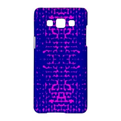 Blue And Pink Pixel Pattern Samsung Galaxy A5 Hardshell Case  by Amaryn4rt