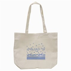 Blue And White Floral Background Tote Bag (cream) by Amaryn4rt