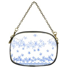 Blue And White Floral Background Chain Purses (one Side)  by Amaryn4rt