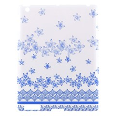 Blue And White Floral Background Apple Ipad 3/4 Hardshell Case by Amaryn4rt