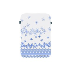 Blue And White Floral Background Apple Ipad Mini Protective Soft Cases by Amaryn4rt