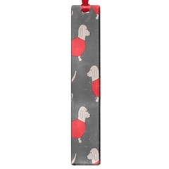 Cute Dachshund Dogs Wearing Jumpers Wallpaper Pattern Background Large Book Marks by Amaryn4rt