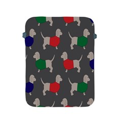 Cute Dachshund Dogs Wearing Jumpers Wallpaper Pattern Background Apple Ipad 2/3/4 Protective Soft Cases by Amaryn4rt