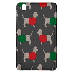 Cute Dachshund Dogs Wearing Jumpers Wallpaper Pattern Background Samsung Galaxy Tab Pro 8 4 Hardshell Case by Amaryn4rt