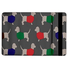 Cute Dachshund Dogs Wearing Jumpers Wallpaper Pattern Background Ipad Air 2 Flip by Amaryn4rt