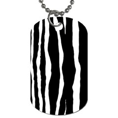 Zebra Background Pattern Dog Tag (two Sides) by Amaryn4rt