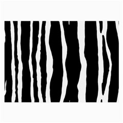 Zebra Background Pattern Large Glasses Cloth (2 Side) by Amaryn4rt