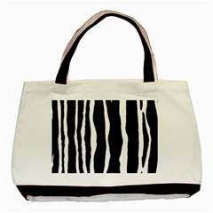 Zebra Background Pattern Basic Tote Bag (two Sides) by Amaryn4rt
