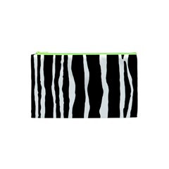 Zebra Background Pattern Cosmetic Bag (xs) by Amaryn4rt