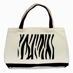 Seamless Zebra A Completely Zebra Skin Background Pattern Basic Tote Bag (two Sides) by Amaryn4rt
