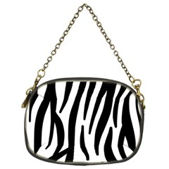 Seamless Zebra A Completely Zebra Skin Background Pattern Chain Purses (two Sides)  by Amaryn4rt