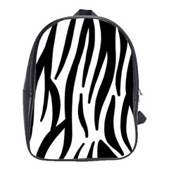 Seamless Zebra A Completely Zebra Skin Background Pattern School Bags(large)  by Amaryn4rt