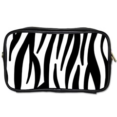 Seamless Zebra A Completely Zebra Skin Background Pattern Toiletries Bags 2 Side by Amaryn4rt