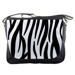 Seamless Zebra A Completely Zebra Skin Background Pattern Messenger Bags by Amaryn4rt