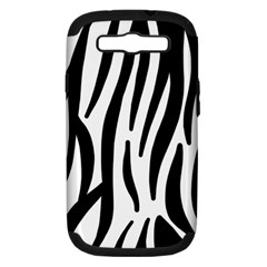Seamless Zebra A Completely Zebra Skin Background Pattern Samsung Galaxy S Iii Hardshell Case (pc+silicone) by Amaryn4rt