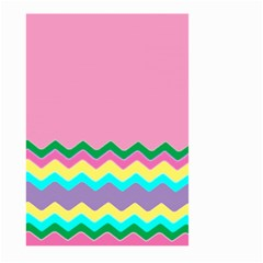 Easter Chevron Pattern Stripes Large Garden Flag (two Sides) by Amaryn4rt