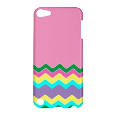 Easter Chevron Pattern Stripes Apple Ipod Touch 5 Hardshell Case by Amaryn4rt