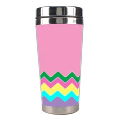 Easter Chevron Pattern Stripes Stainless Steel Travel Tumblers by Amaryn4rt