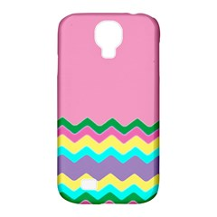 Easter Chevron Pattern Stripes Samsung Galaxy S4 Classic Hardshell Case (pc+silicone)