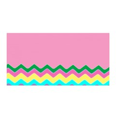 Easter Chevron Pattern Stripes Satin Wrap by Amaryn4rt