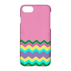 Easter Chevron Pattern Stripes Apple Iphone 7 Hardshell Case by Amaryn4rt