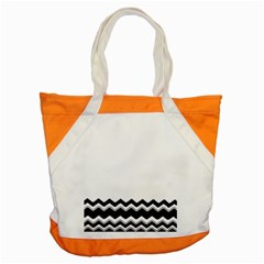 Chevrons Black Pattern Background Accent Tote Bag by Amaryn4rt