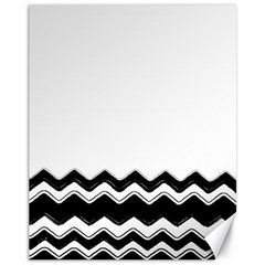 Chevrons Black Pattern Background Canvas 11  X 14