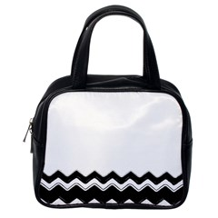 Chevrons Black Pattern Background Classic Handbags (one Side) by Amaryn4rt