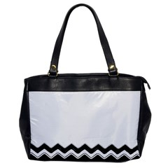 Chevrons Black Pattern Background Office Handbags by Amaryn4rt