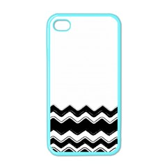 Chevrons Black Pattern Background Apple Iphone 4 Case (color) by Amaryn4rt