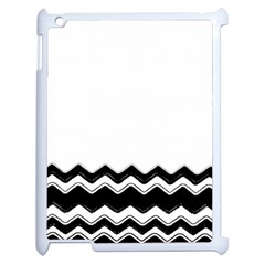 Chevrons Black Pattern Background Apple Ipad 2 Case (white) by Amaryn4rt
