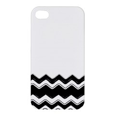 Chevrons Black Pattern Background Apple Iphone 4/4s Premium Hardshell Case by Amaryn4rt
