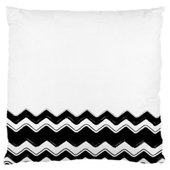 Chevrons Black Pattern Background Large Cushion Case (one Side) by Amaryn4rt