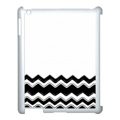 Chevrons Black Pattern Background Apple Ipad 3/4 Case (white) by Amaryn4rt