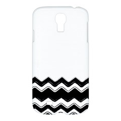 Chevrons Black Pattern Background Samsung Galaxy S4 I9500/i9505 Hardshell Case by Amaryn4rt