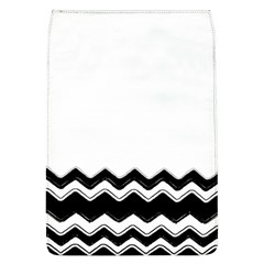 Chevrons Black Pattern Background Flap Covers (l)  by Amaryn4rt