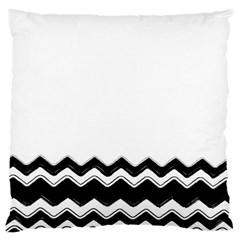 Chevrons Black Pattern Background Large Flano Cushion Case (one Side) by Amaryn4rt