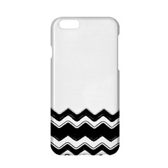 Chevrons Black Pattern Background Apple Iphone 6/6s Hardshell Case by Amaryn4rt