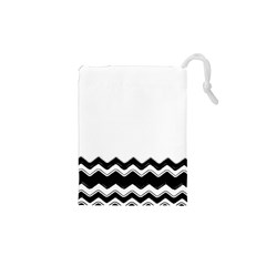 Chevrons Black Pattern Background Drawstring Pouches (xs)
