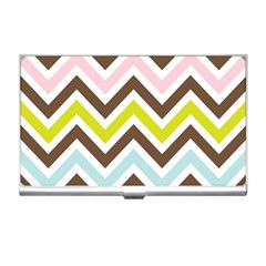 Chevrons Stripes Colors Background Business Card Holders