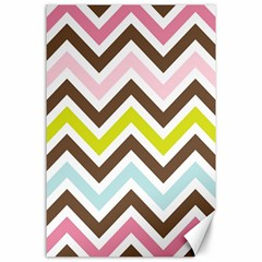 Chevrons Stripes Colors Background Canvas 24  X 36  by Amaryn4rt