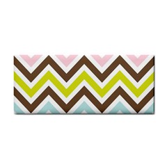 Chevrons Stripes Colors Background Cosmetic Storage Cases by Amaryn4rt