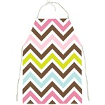 Chevrons Stripes Colors Background Full Print Aprons Front