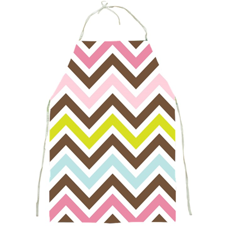 Chevrons Stripes Colors Background Full Print Aprons
